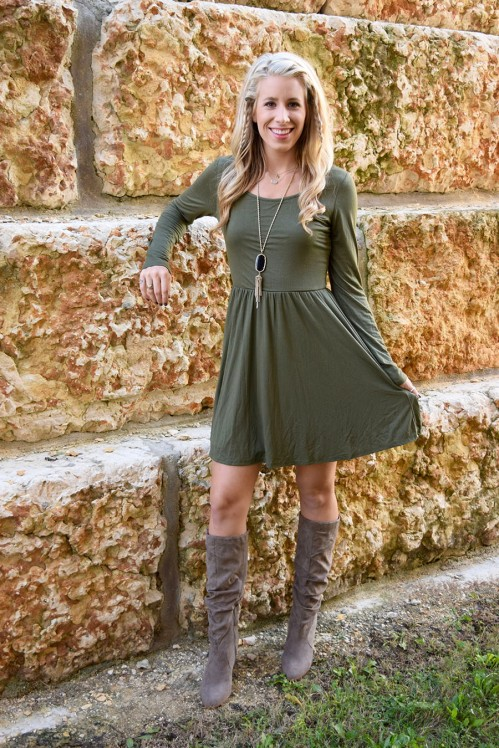 olive dress 4