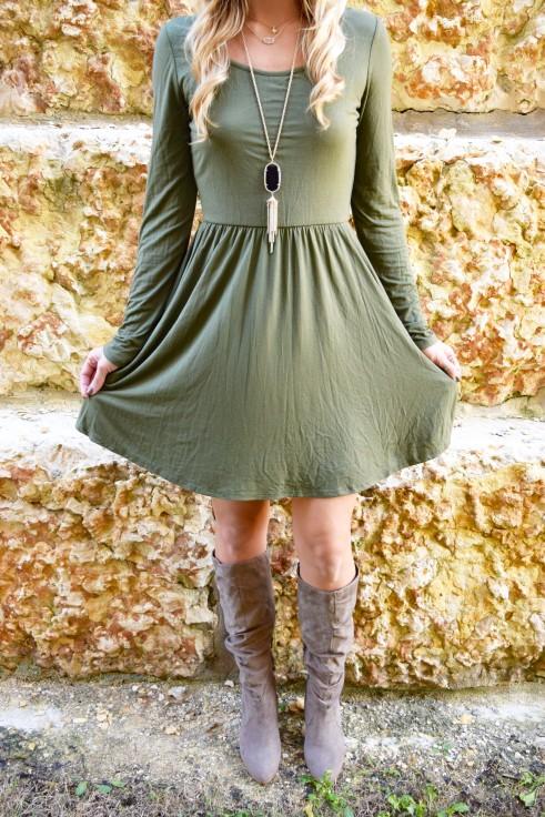 olive dress 6